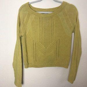 Free People Mustard yellow sweater